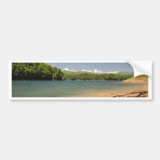 Mountian lake car bumper sticker