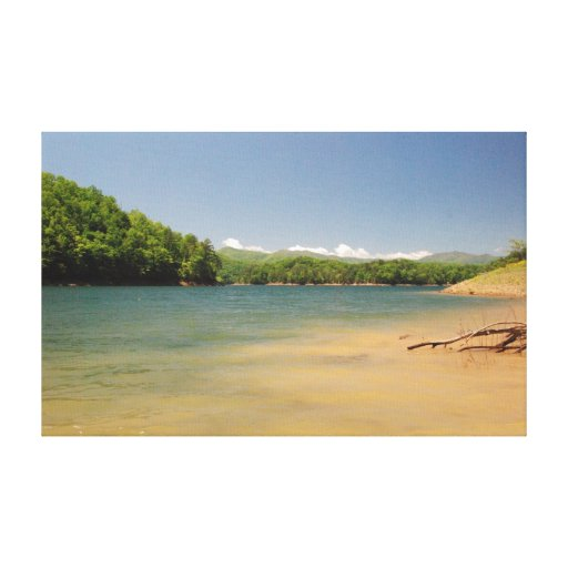 Mountian Lake Gallery Wrapped Canvas