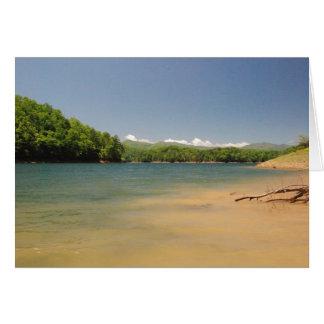 Mountian lake greeting card
