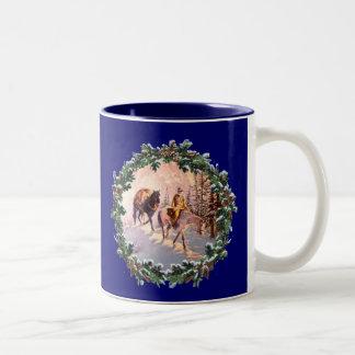 MOUNTIAN MAN & WREATH by SHARON SHARPE Coffee Mugs