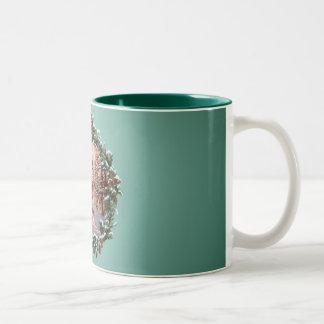 MOUNTIAN MAN & WREATH by SHARON SHARPE Two-Tone Coffee Mug