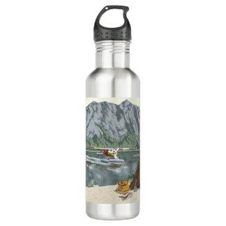Mountian Plane Adventure Travel 710 Ml Water Bottle