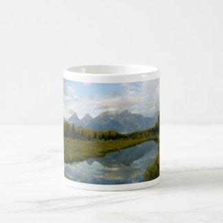 mountian range basic white mug