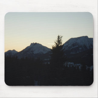 Mountian top sunset mouse pads