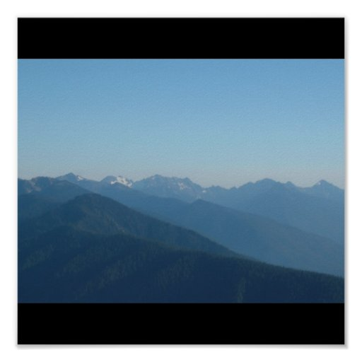 Mountians and hills poster