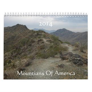Mountians Of America  2014 Calendar