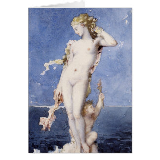 Moureau Aphrodite Birth of Venus Card