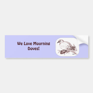 Mourning Dove Baby Bumper Sticker