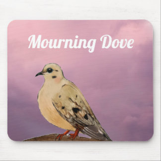 Mourning Dove Backyard Bird on Branch Mouse Pad