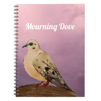 Mourning Dove Backyard Bird on Branch Notebooks