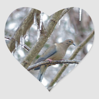 Mourning Dove Heart Sticker
