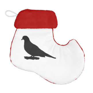 Mourning dove or love birds bird silhouette elf christmas stocking