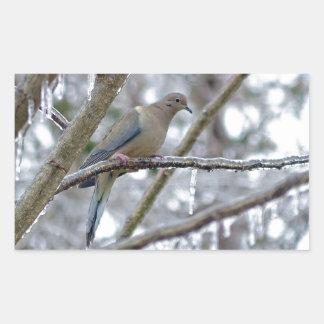 Mourning Dove Rectangular Sticker