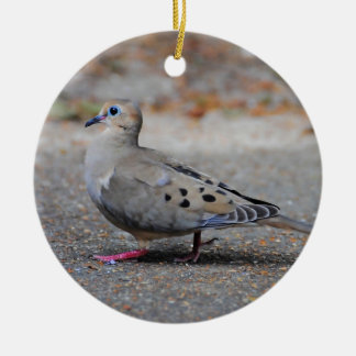 Mourning Dove Taking a Walk Christmas Tree Ornaments
