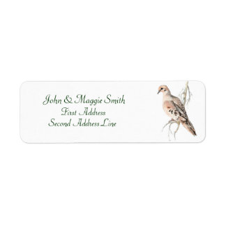 Mourning Dove/ Turtle dove, Bird, Address Label