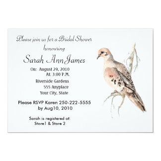 Mourning Dove Turtle Dove  Bird Wedding Card