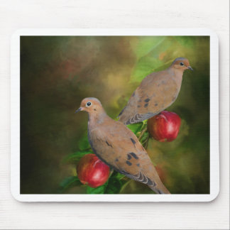 Mourning Doves on the Apple Tree - Painting Mouse Pad
