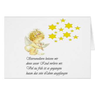 mourning map of asterisking children card