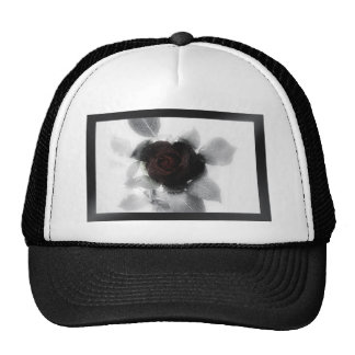 Mourning Memory Rose Mesh Hats