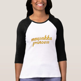 mousakka princess greek mediterranean theme shirt