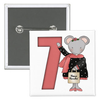 Mouse 7th Birthday Gifts Button