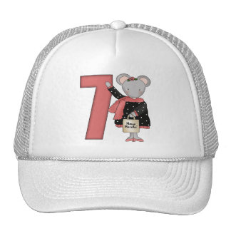 Mouse 7th Birthday Gifts Trucker Hats