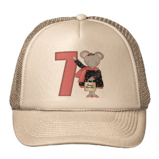 Mouse 7th Birthday Gifts Mesh Hat