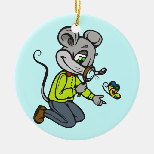 Mouse and Butterfly Ornaments