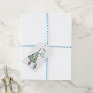 """Mouse And Christmas Tree """"Have A Mice Christmas"""" Gift Tags"""