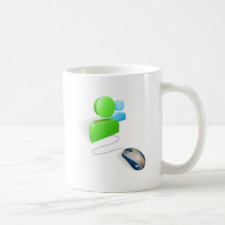 Mouse and social media icon concept coffee mug