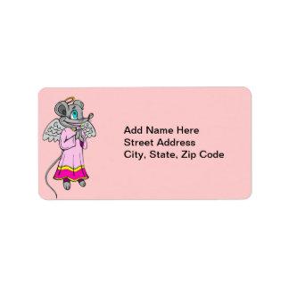 Mouse Angel Address Label