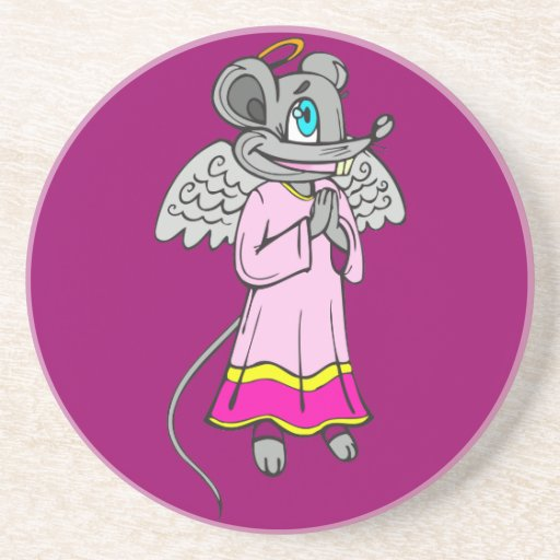 Mouse Angel Drink Coasters