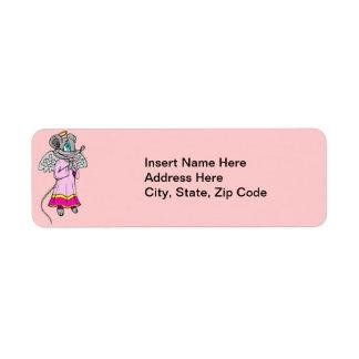 Mouse Angel Return Address Label