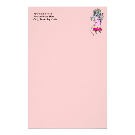 Mouse Angel Personalized Stationery