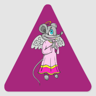 Mouse Angel Triangle Stickers
