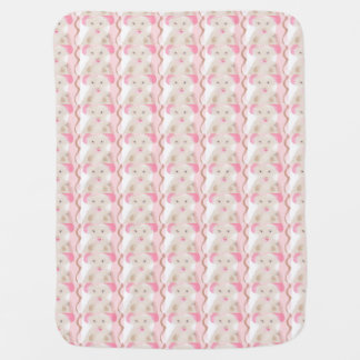 Mouse Baby Blanket Pink White