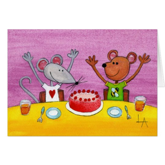 Mouse & Bear Party Card