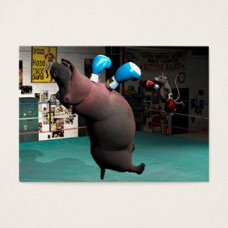 Mouse Beats Hippo KO Business Card