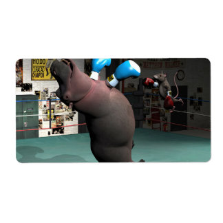 Mouse Beats Hippo KO Shipping Label