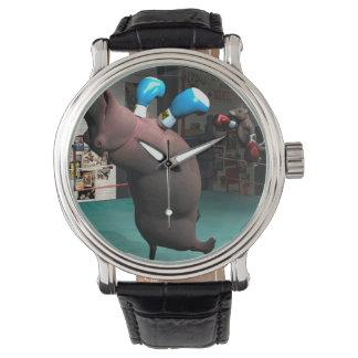 Mouse Beats Hippo KO Wrist Watch