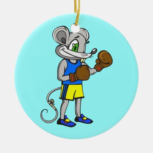 Mouse Boxer Christmas Tree Ornament