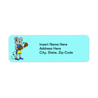 Mouse Boxer Return Address Label