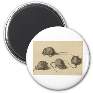mouse-clipart-2 6 cm round magnet