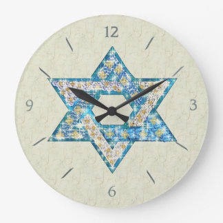 Mouse Drawn Gem Decorated Star Of David Wallclock