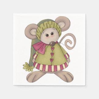 Mouse Dressed Up Paper Napkins