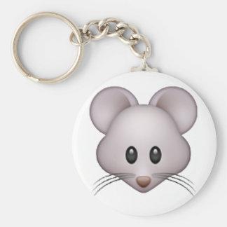 Mouse - Emoji Basic Round Button Key Ring