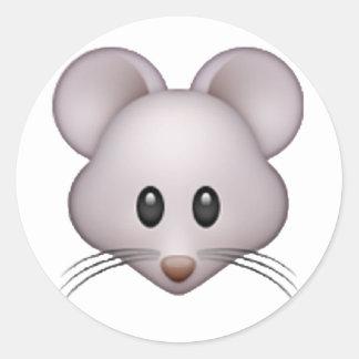 Mouse - Emoji Classic Round Sticker