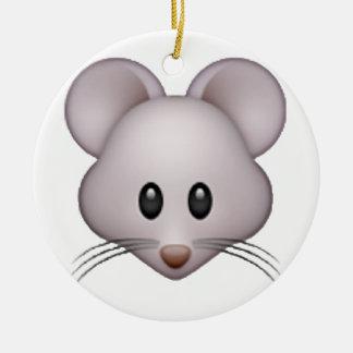 Mouse - Emoji Round Ceramic Decoration