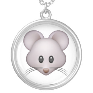 Mouse - Emoji Silver Plated Necklace