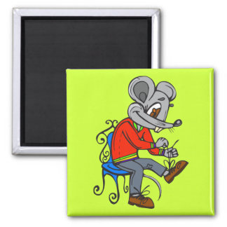 Mouse Getting Dressed Refrigerator Magnets
